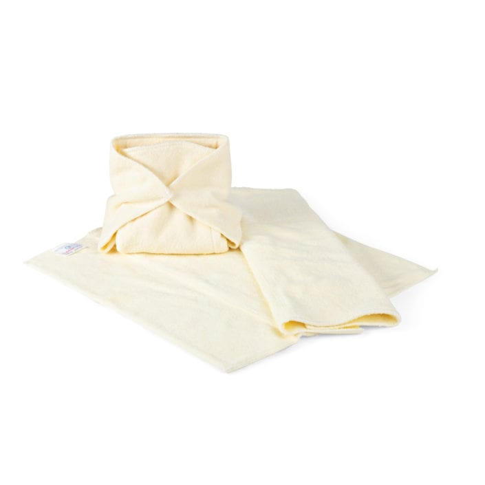 Towels and cloth nappys for babies