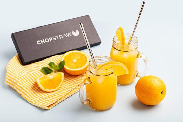 Chopstraw Orange Juice Lifestyle Photo