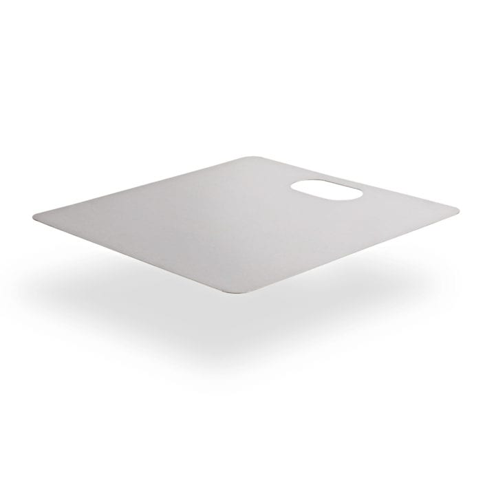 Stainless Steel Chopping Board on White