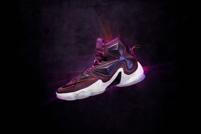 Lebron XIII Purple Basketball Shoes