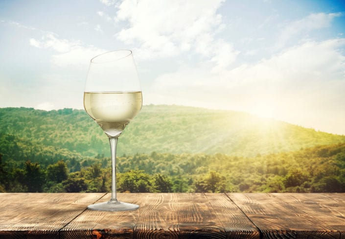 White Wine Advertising Photo