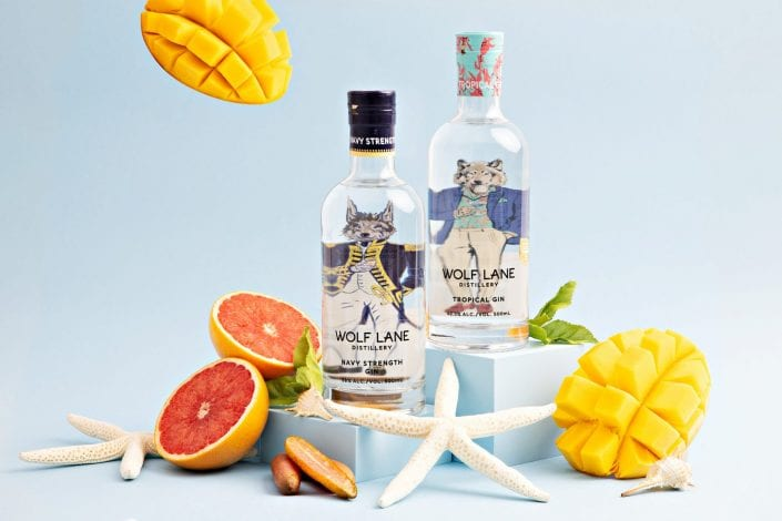 Wolf Lane Distillery Product Photography