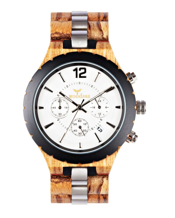 Photograph of a modern wooden watch