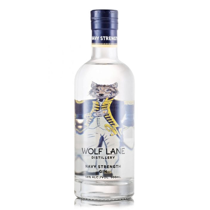 Wolf Lane Navy Gin Bottle
