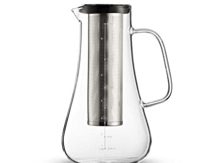 glass coffee pot with filter